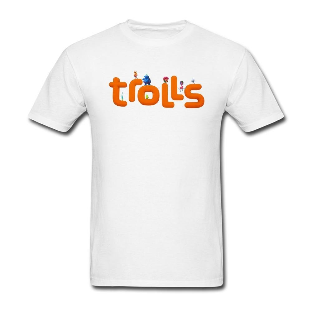 Amazon.com: JuDian Trolls Movie Logo T Shirt For Men.