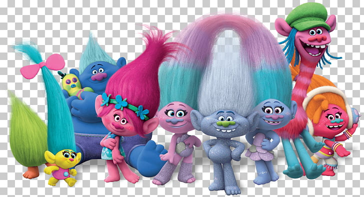Trolls Full Group, Disney Trolls characters illustration PNG.
