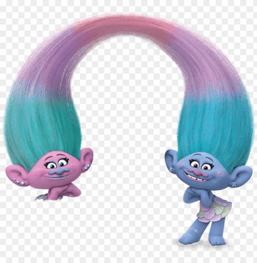 trolls satin and chenille PNG image with transparent.