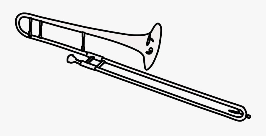 Trombone Black And White , Free Transparent Clipart.