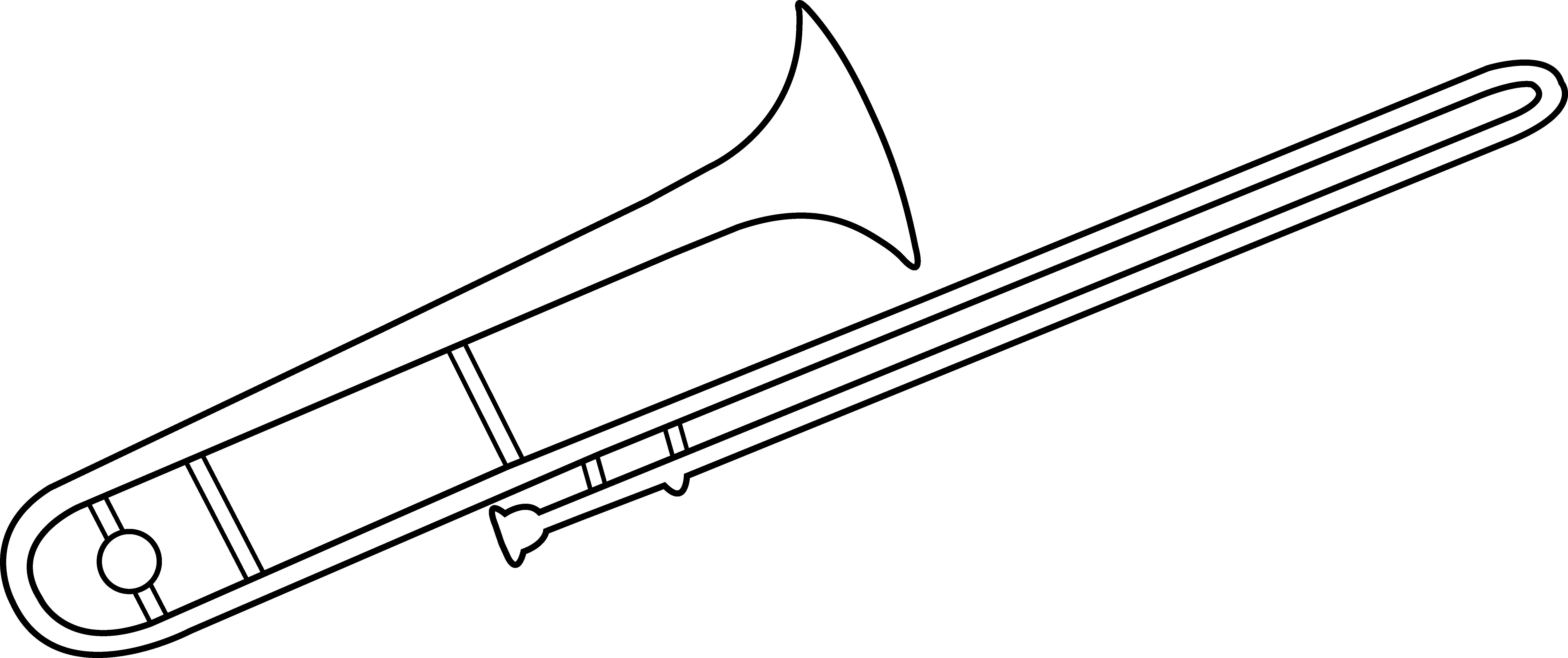 Trombone Line Art.