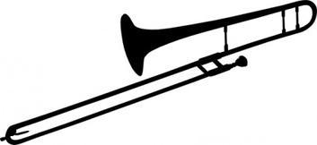 Tenor Trombone clip art Free Vector.
