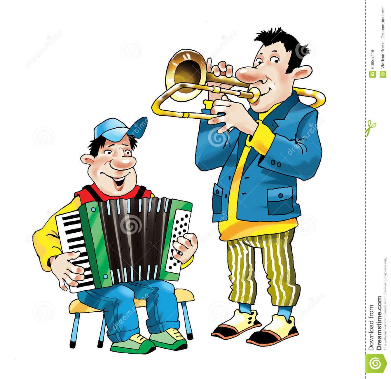Concerto Di Prestazione Della Fisarmonica Del Trombone Di Muykant.
