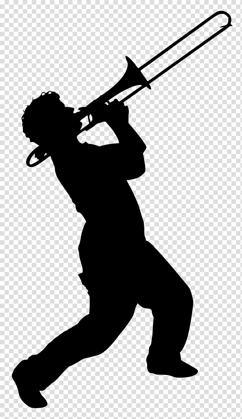 Trombone Silhouette Music , trombone transparent background.
