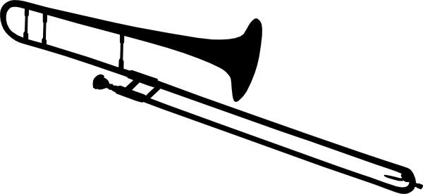 Trombone Silhouette clip art Free vector in Open office.