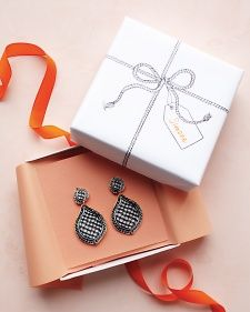 Trompe L'oeil Earrings and Gift Box.