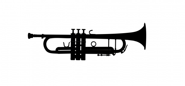 Silueta de trompeta clipart Stock de Foto gratis.