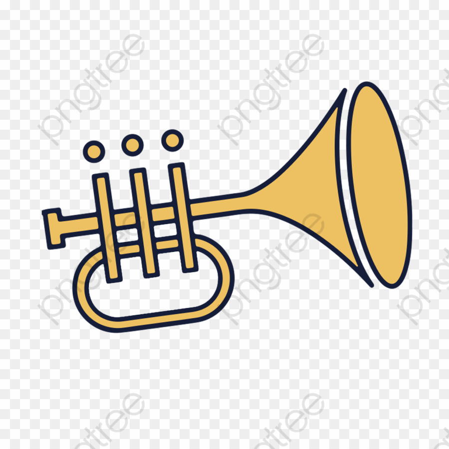 Trompete Cartoon PNG Trumpet Drawing Clipart download.