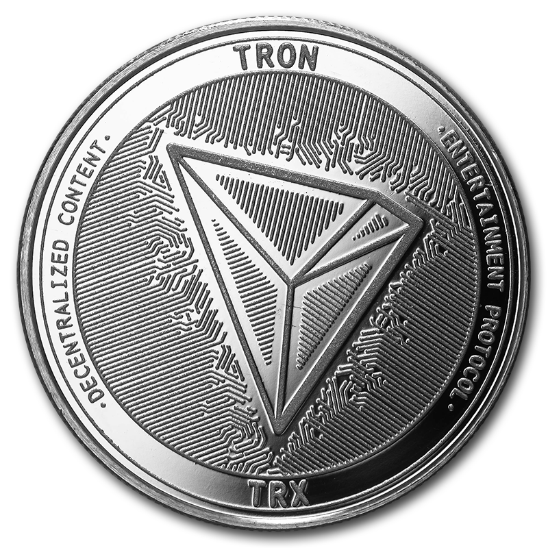Details about 1 oz Silver Bullion Cryptocurrency Tron Round .999 fine.