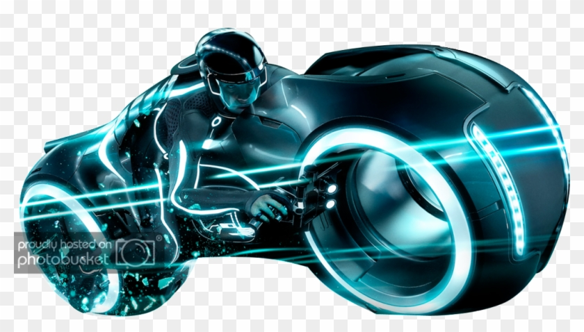 Transparent Motorcycle Tron.