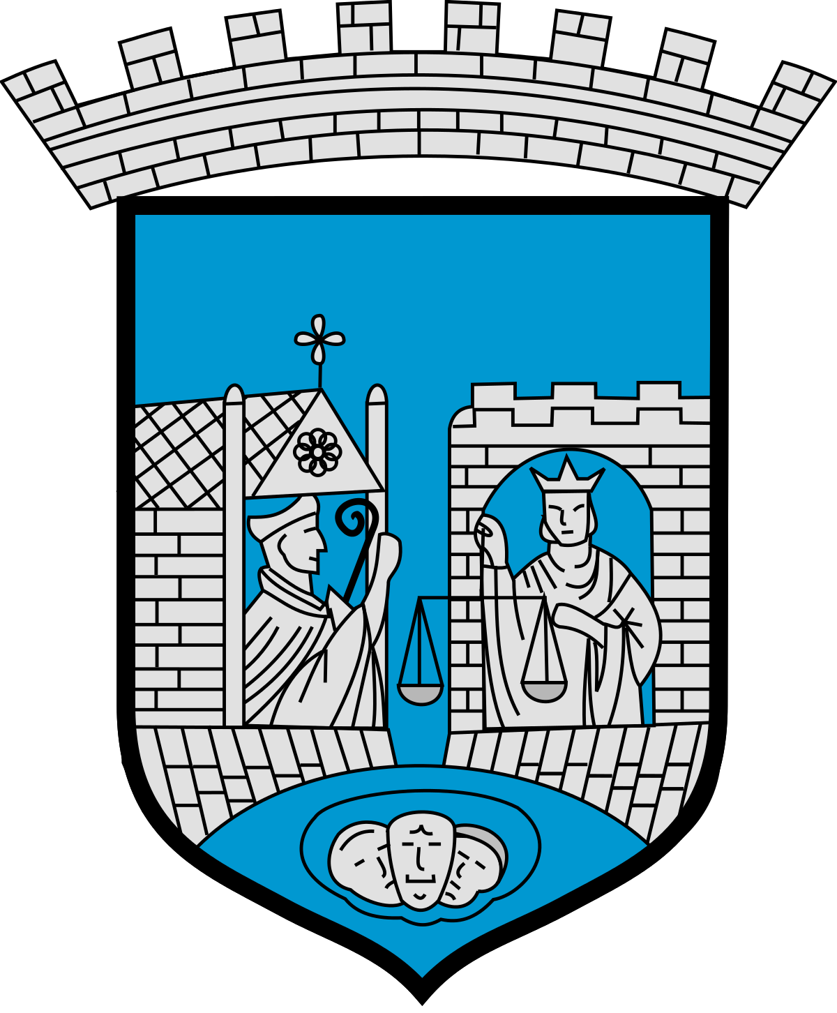 Coat of arms of Trondheim.
