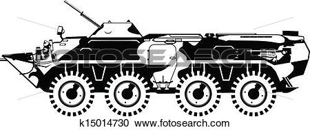Clipart of armored troop.