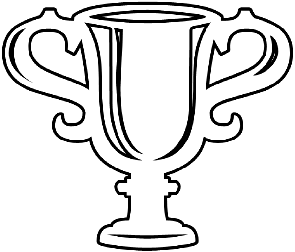 Trophy Clipart Black And White.