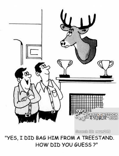 Hunting Trophy Cartoons and Comics.