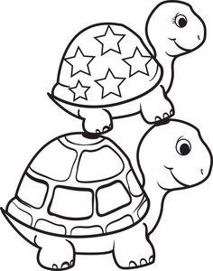 cute little girl turtle clip art.