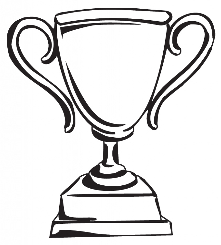 black and white trophy clipart commercial use 1 trophy black.