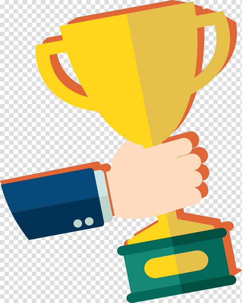 Award Trophy , Won the trophy transparent background PNG.