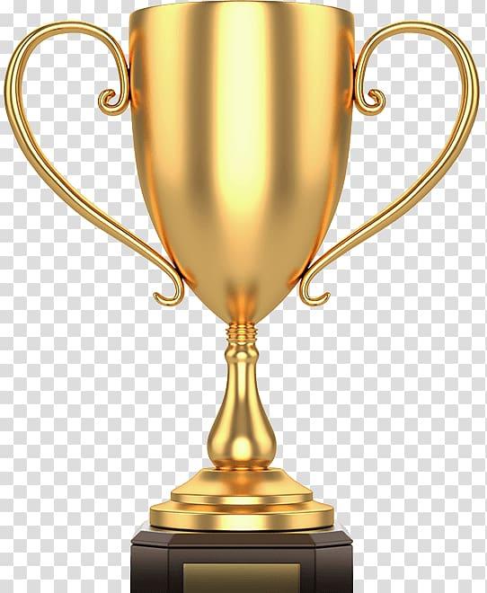 Gold cup trophy illustration, Trophy Cup Award Sport, Golden.