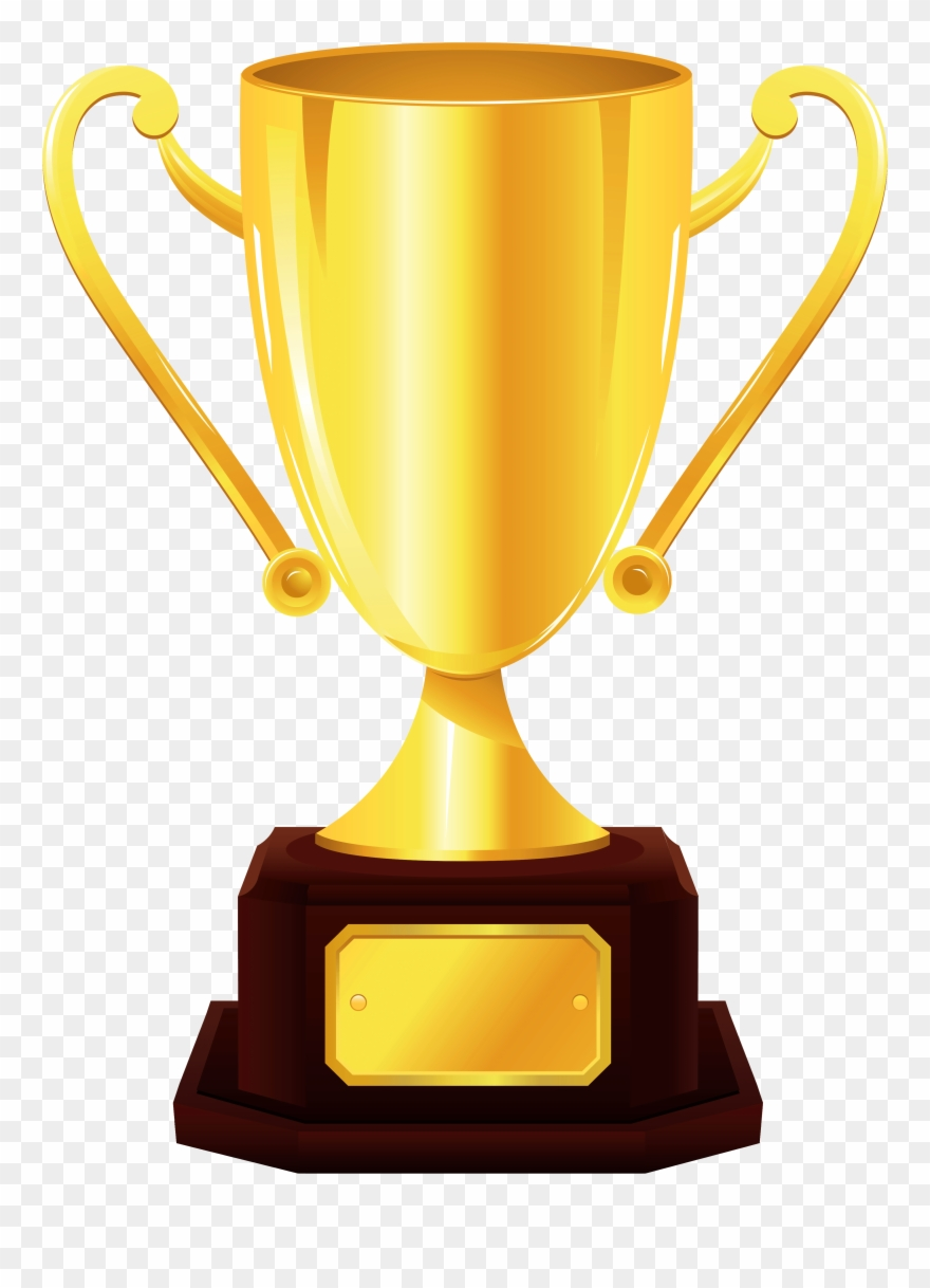 Gold Cup Trophy Png Clipart Picture.
