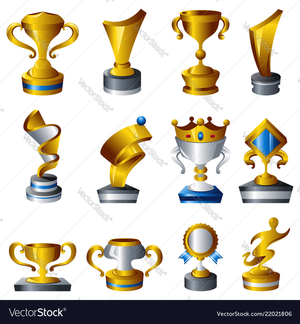 Trophy icons.