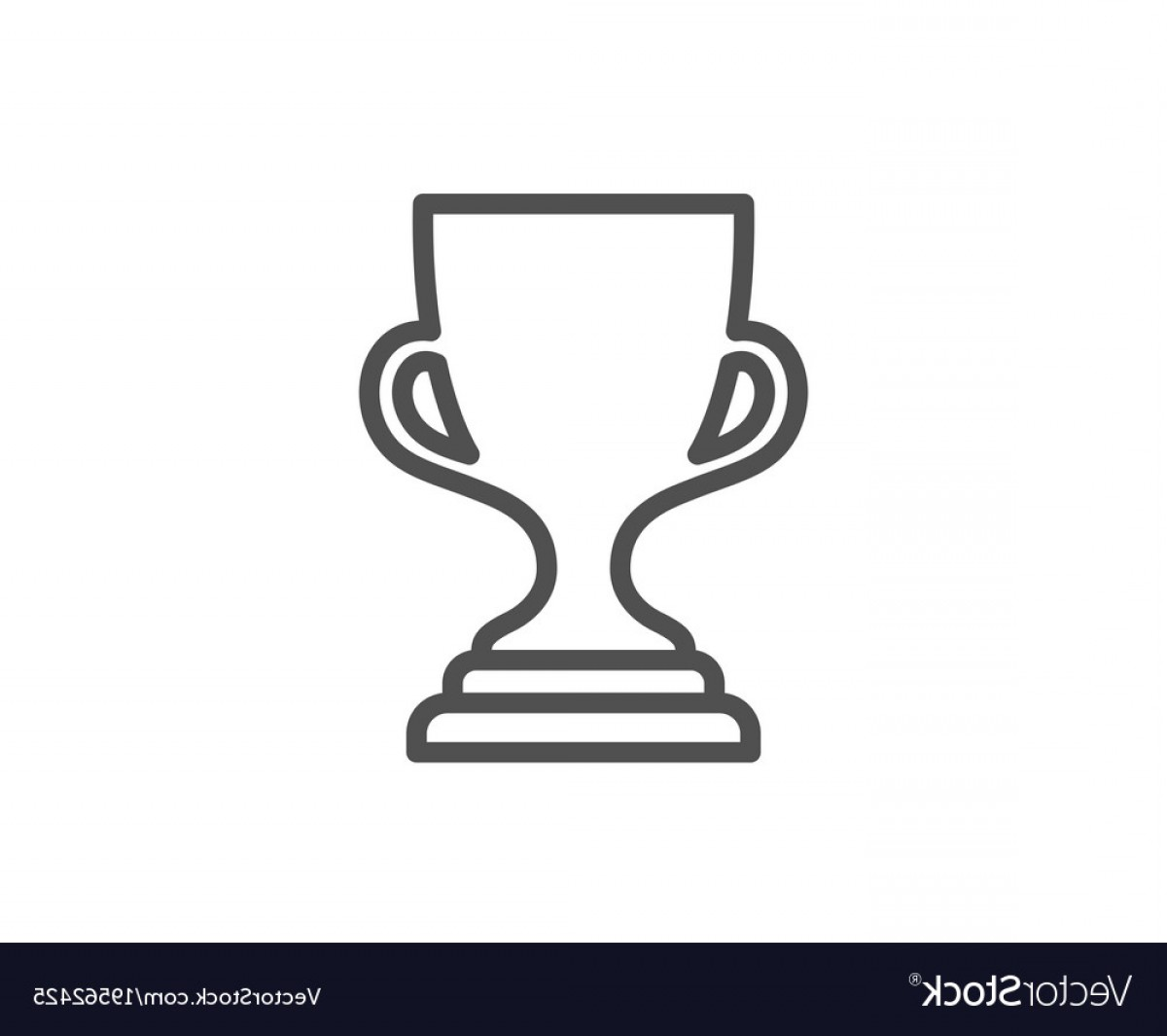 Award Cup Line Icon Winner Trophy Vector.