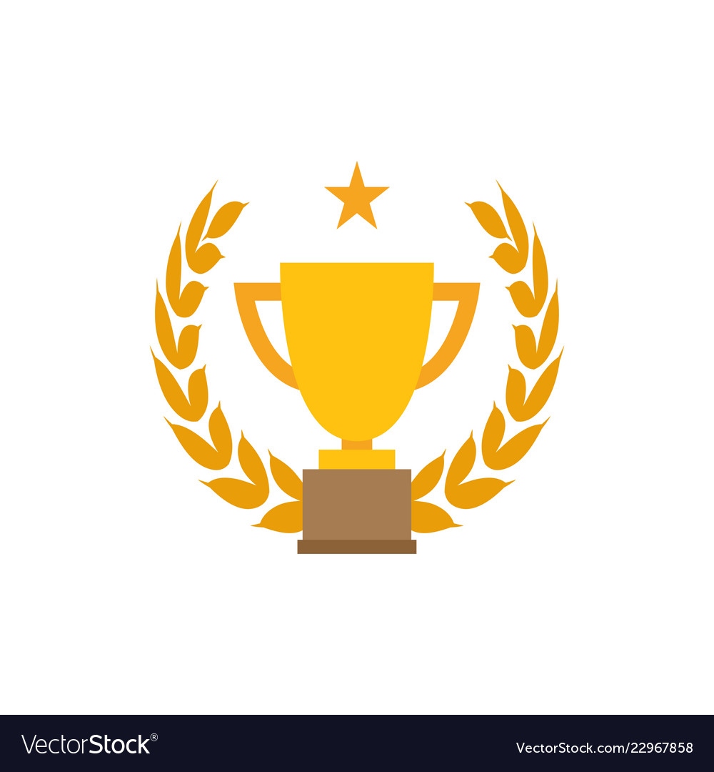 Trophy cup graphic design template.