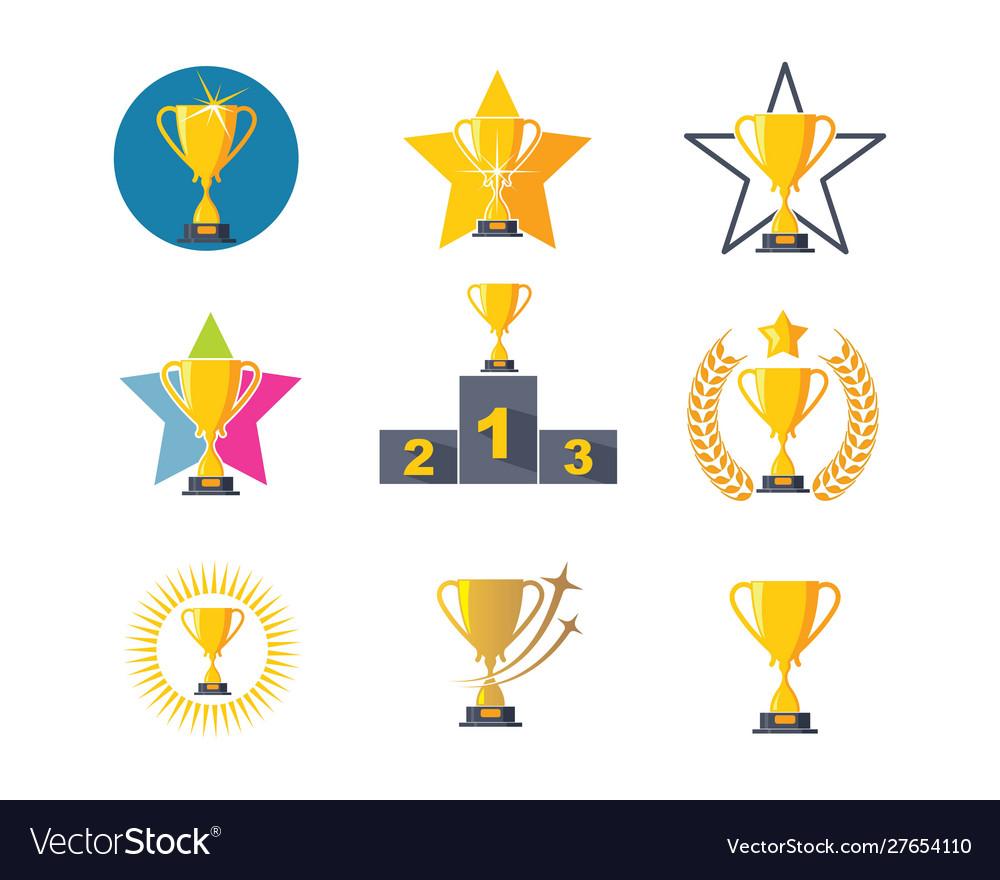 Trophy logo icon winner.