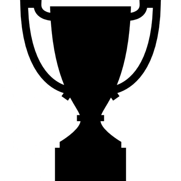 Trophy sportive cup outline Icons.