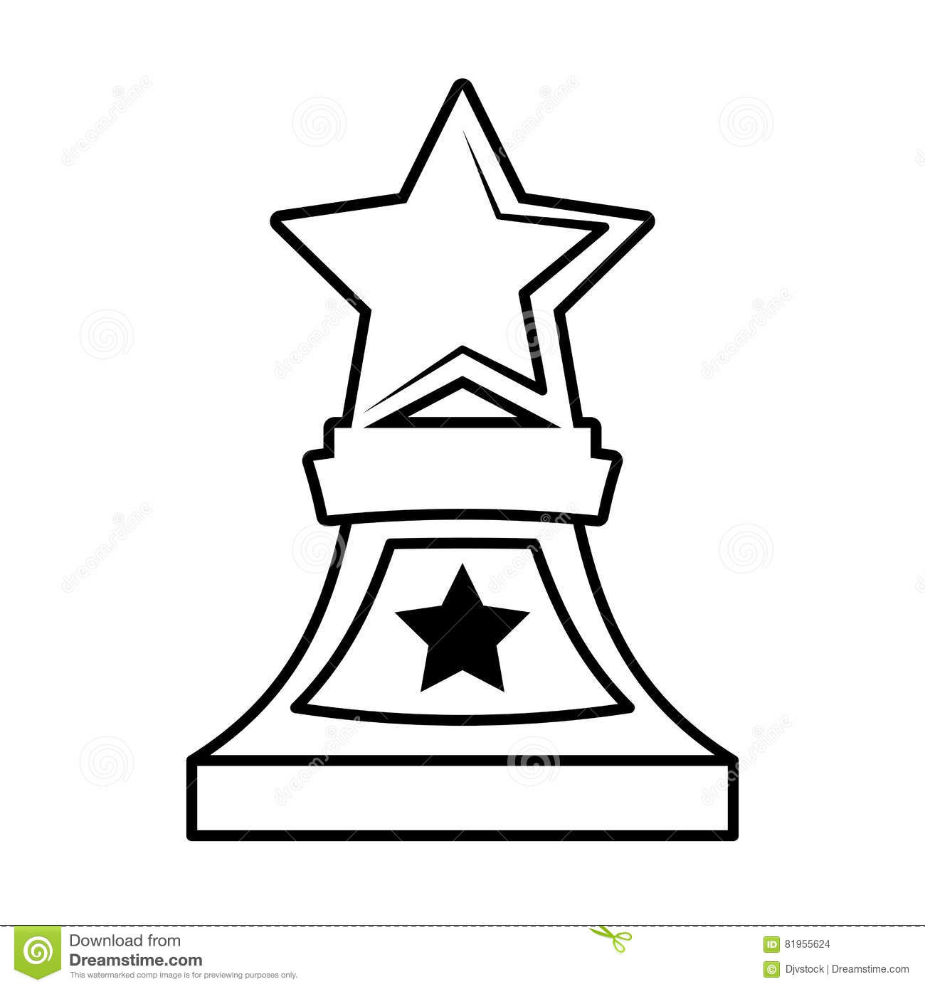 Trophy Outline Clipart Clipground