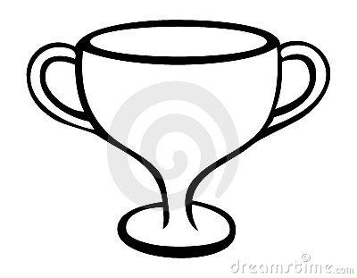 Trophy Outline Stock Vector.