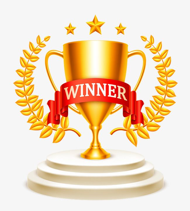 Winner, Golden Trophy, Gold, Trophy PNG Transparent Clipart.