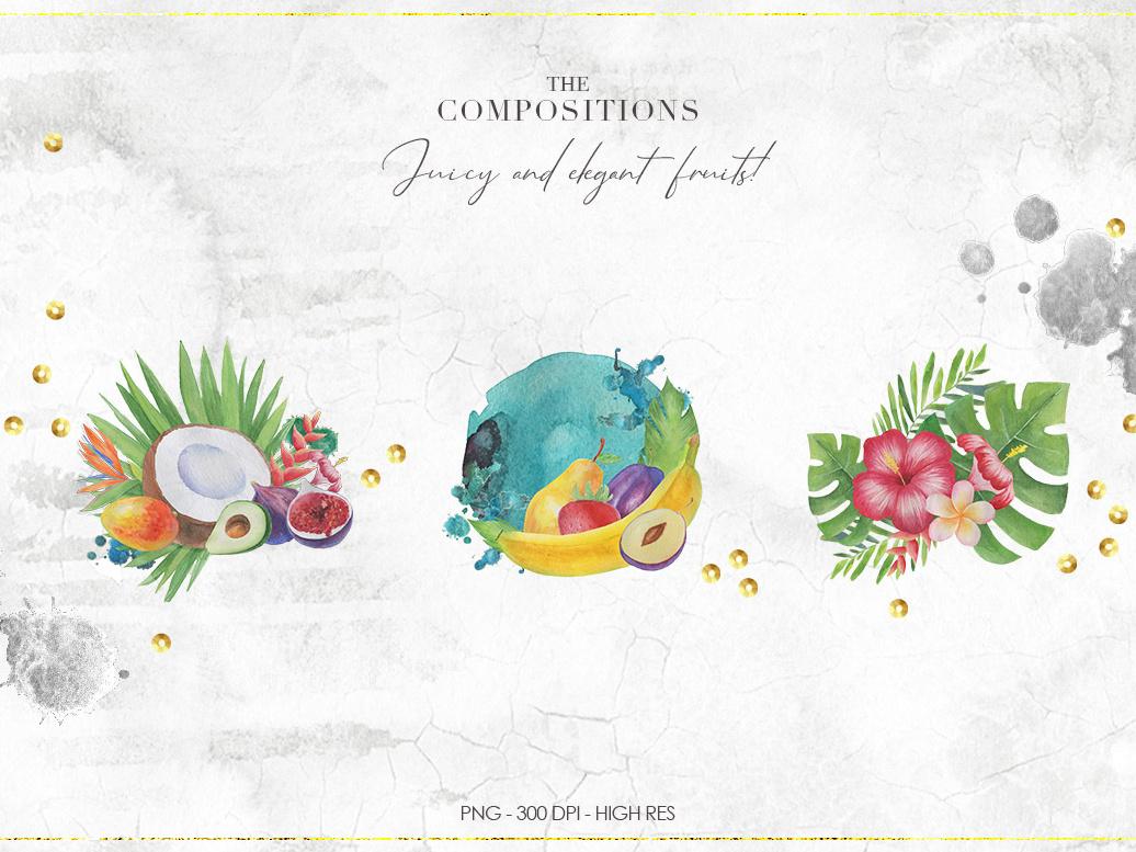 Tropical Watercolor Set by Nastia Smiyan on Dribbble.