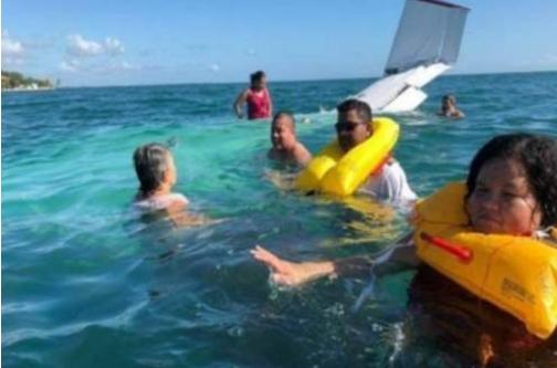 Belize gov\'t ministers escape injury in plane crash.
