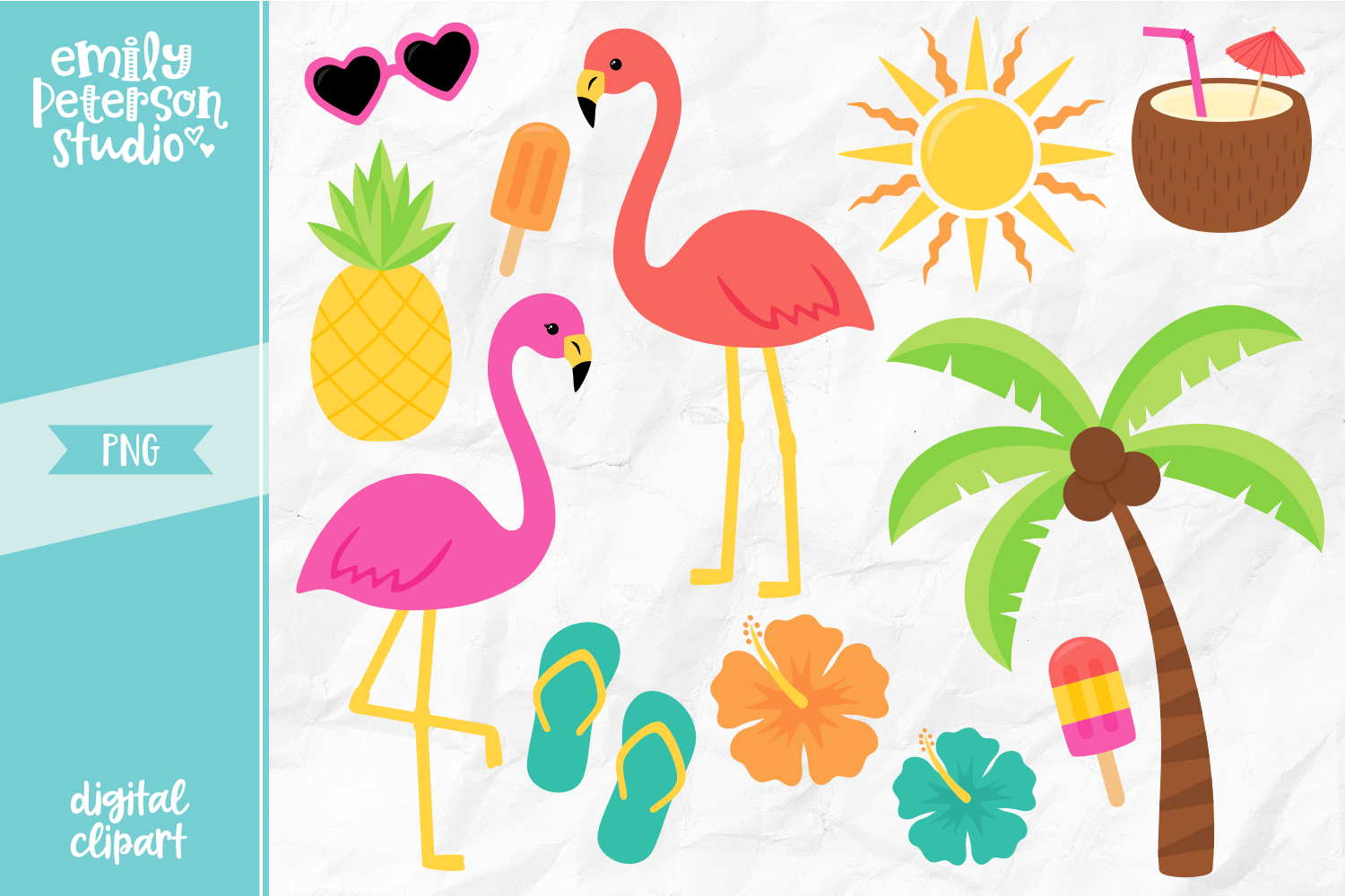 Tropical Clipart By Emily Peterson Studio.