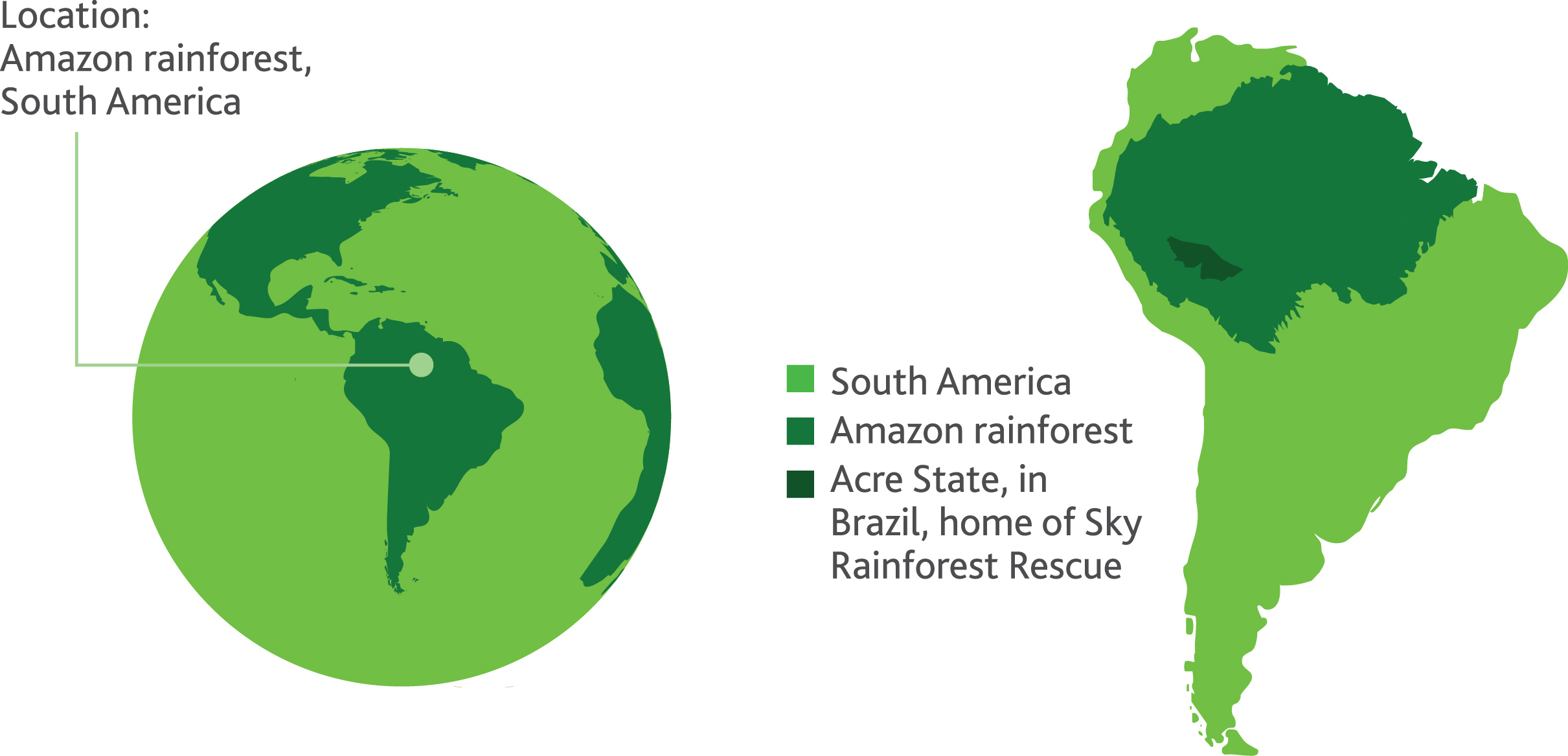 Location of tropical rainforest map clipart.