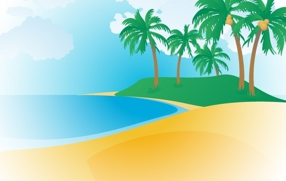 Tropical beach clipart free vector download (4,327 Free.