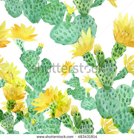 Prickly Pear Cactus Fruit Purple Color Stock Illustration.