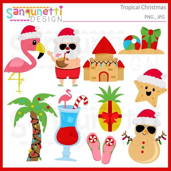 Tropical Winter Clipart.