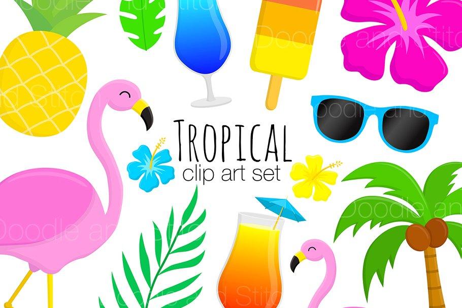 Tropical Clipart Illustrations ~ Illustrations ~ Creative Market.
