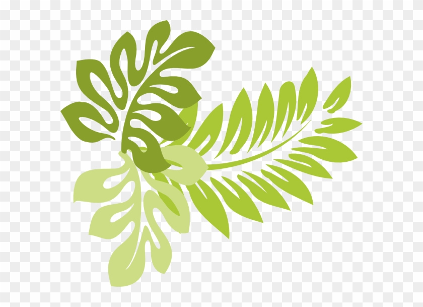 Tropical Leaves Clip Art 629701.