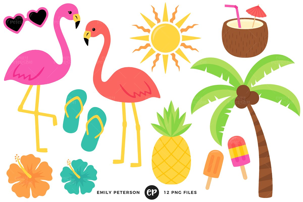 Tropical Clipart ~ Illustrations ~ Creative Market.