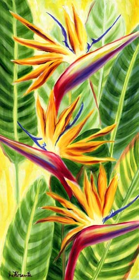 Bird of Paradise watercolor.