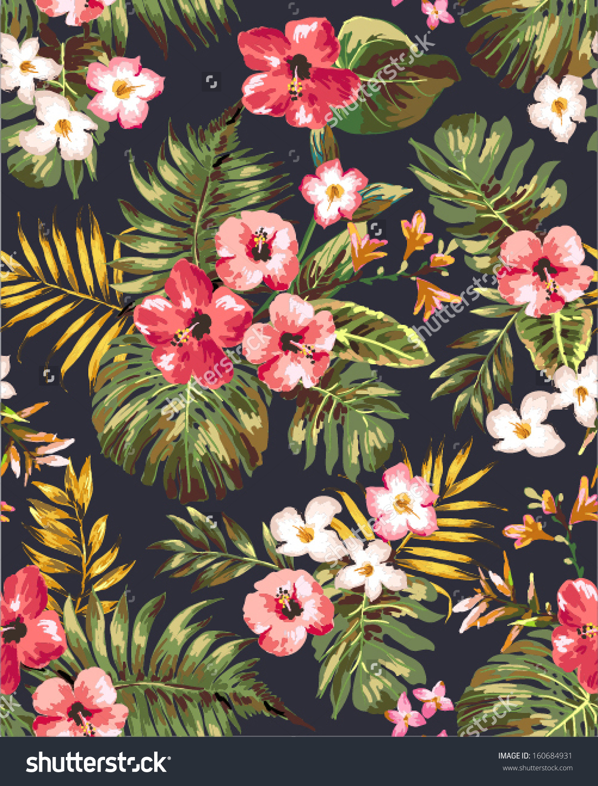 Tropical Floral Art Clipground