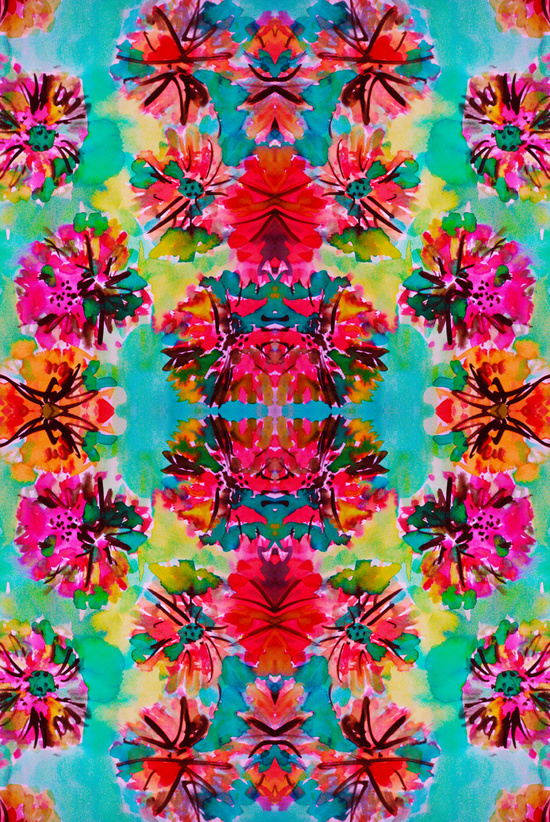 Tropical Floral Art.