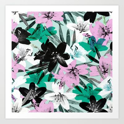 Tropical Floral Art Print.