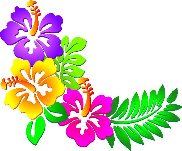 Hawaiian Flower Clip Art.