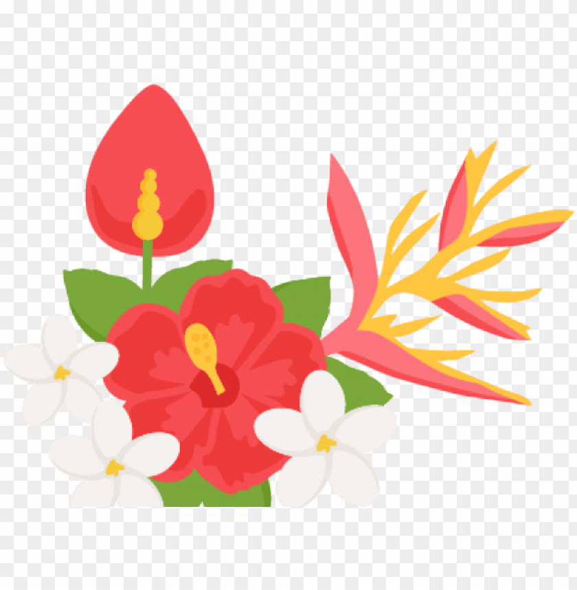 Download tropical flowers border png png free stock.
