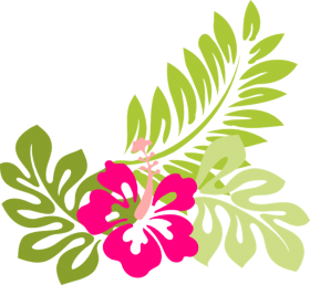 Download tropical flower clip art flowers clip art hawaiian.
