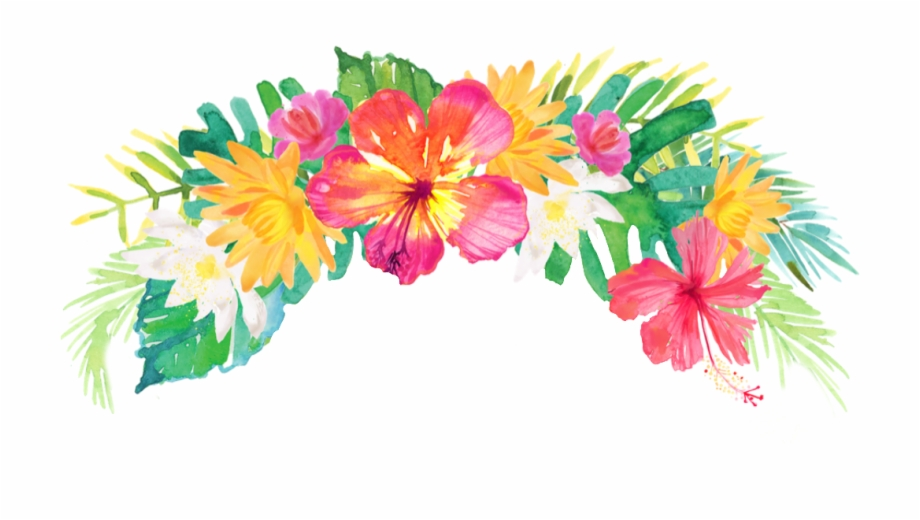 Vector Free Summer Palm Flowers Flowercrown Headband.