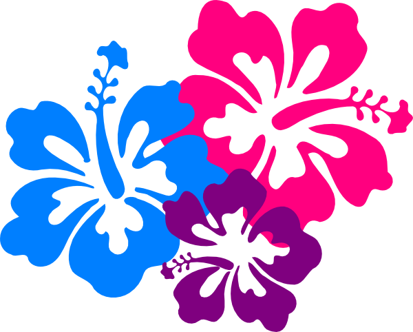 Tropical Flowers Clipart 2.